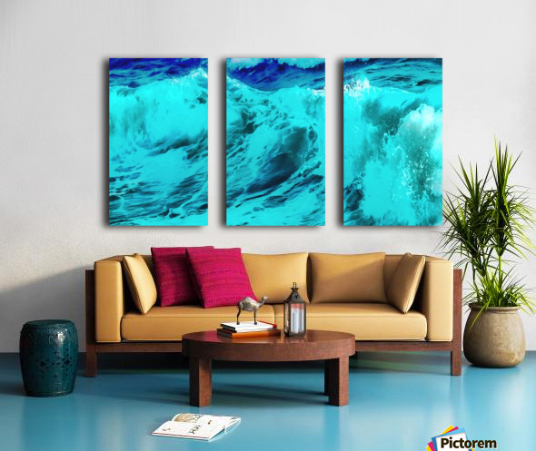 Abstract Wave VII Split Canvas print