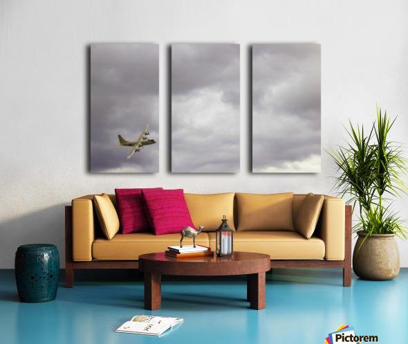 Flyingwarbird Split Canvas print
