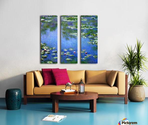 Water Lilies Split Canvas print