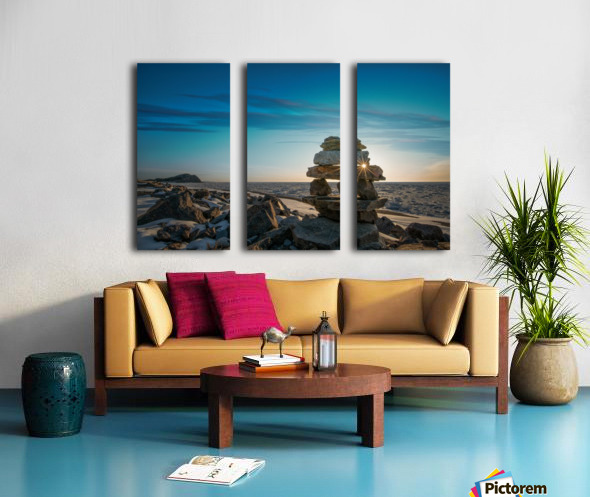 Inukshuk at la Bloc Split Canvas print