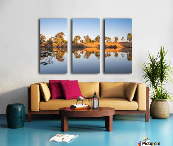 Reflections on the Murray River Split Canvas print