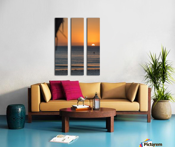 Taking a moment to watch the sunrise Split Canvas print