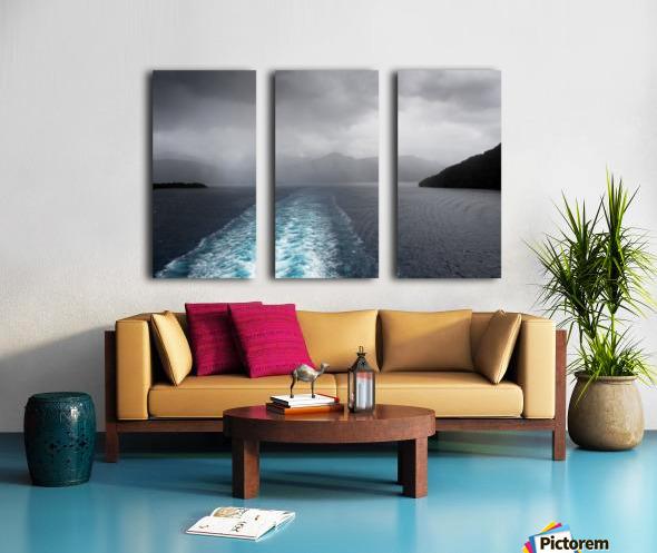 Leaving Fiordland New Zealand Split Canvas print
