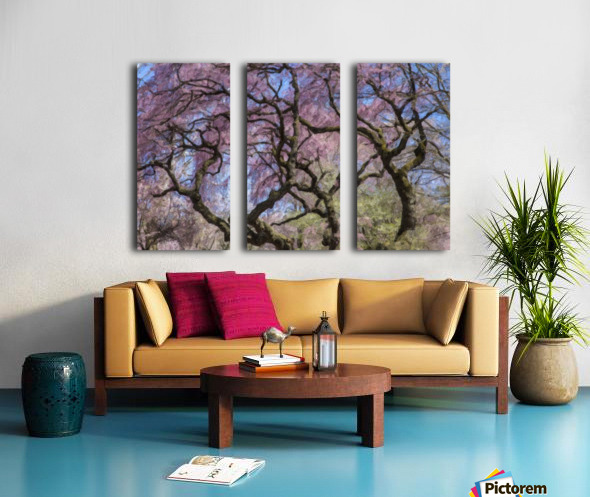Abstract Cherry Blossom tree Split Canvas print