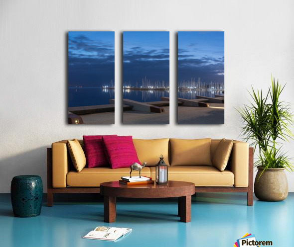 Blue Pre Dawn Marina Split Canvas print