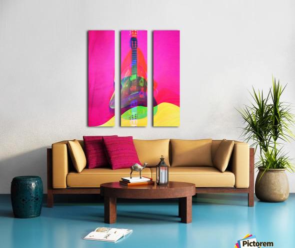 Guitar on Pink  Split Canvas print