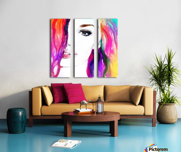 Abstract Woman Split Canvas print