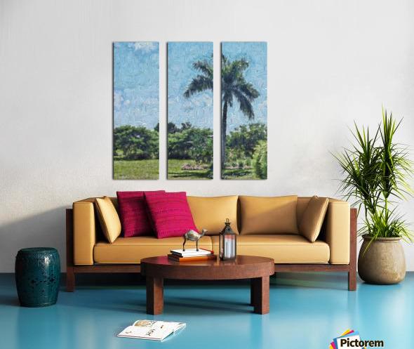 A Monet style Palm Split Canvas print