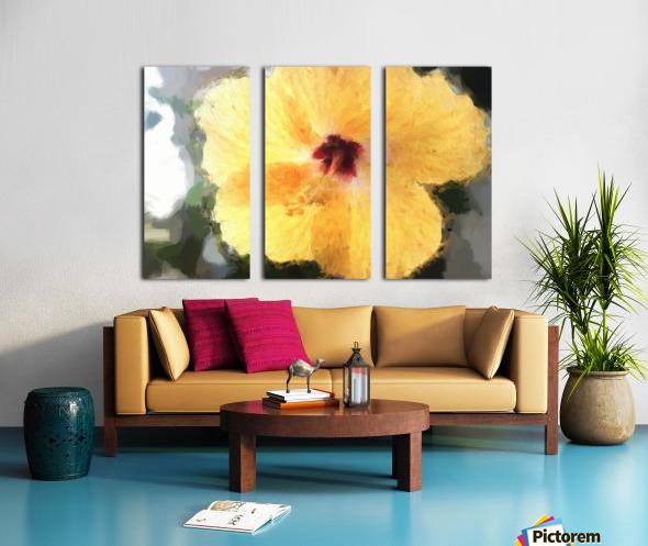 Lady Yellow Split Canvas print