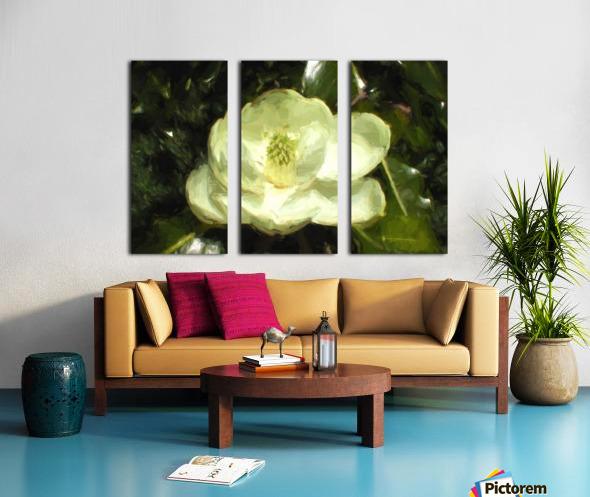 Magnolia Split Canvas print