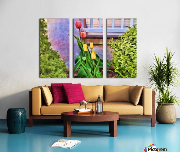 Painted Tulips Split Canvas print