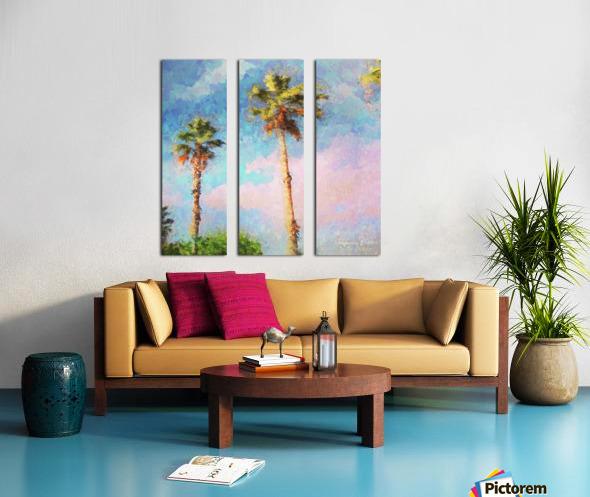Painted Palms Split Canvas print