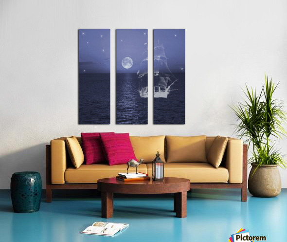 Ghost Ship Split Canvas print