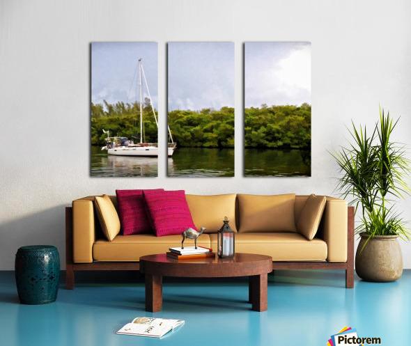On Quiet Waters Split Canvas print