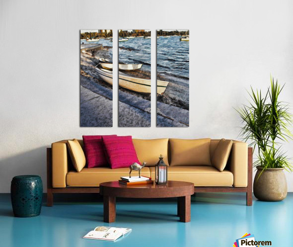Boats At The Bay Split Canvas print