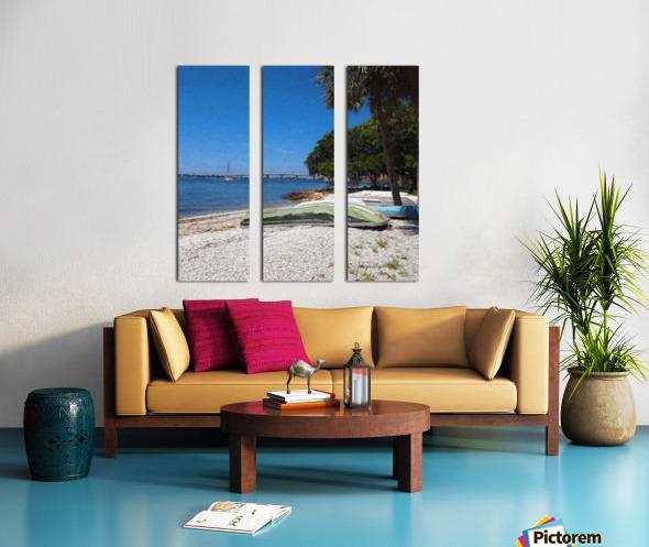Rest Stop Split Canvas print
