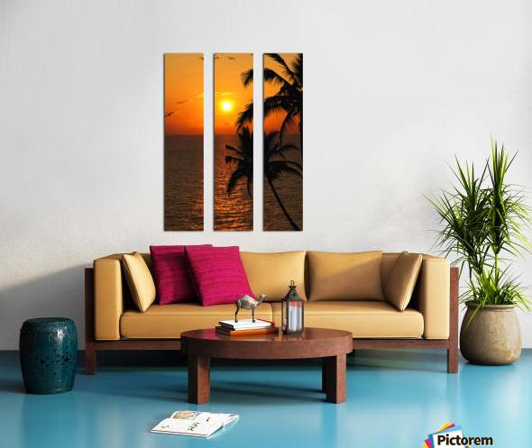 Unknown Paradise Split Canvas print