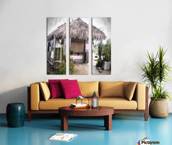 Hut Split Canvas print