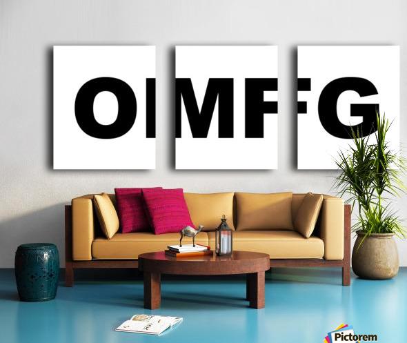OMFG Split Canvas print