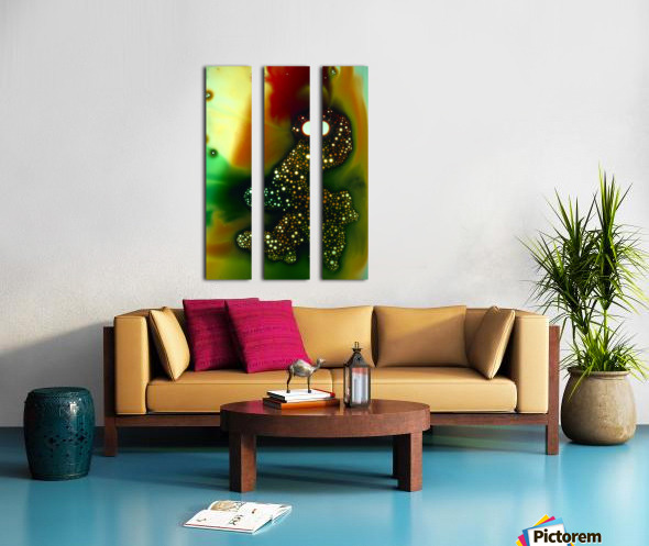 GREEN MONSTER Split Canvas print