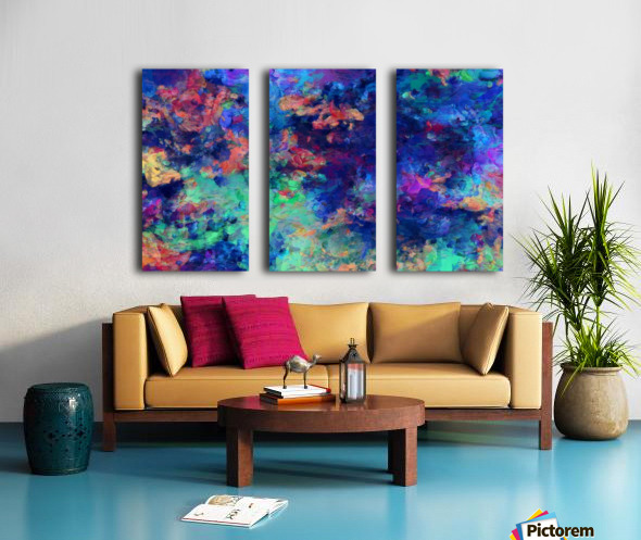 Abstract Colors Split Canvas print