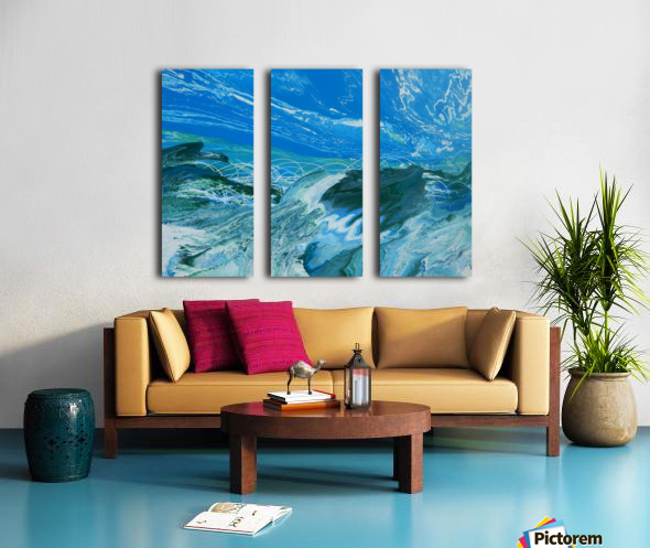 WEST COAST Split Canvas print