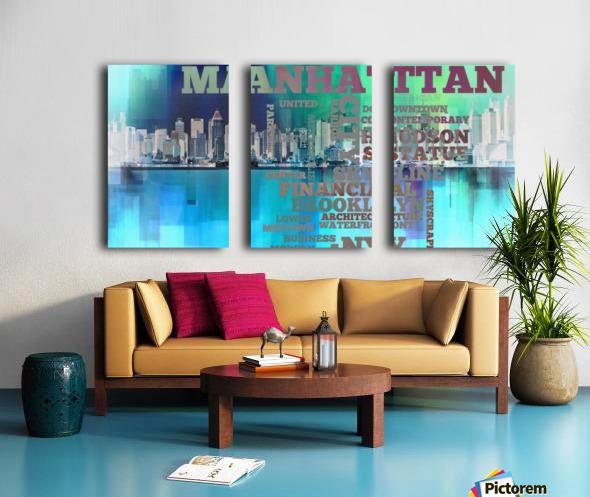Manhattan harbor Split Canvas print