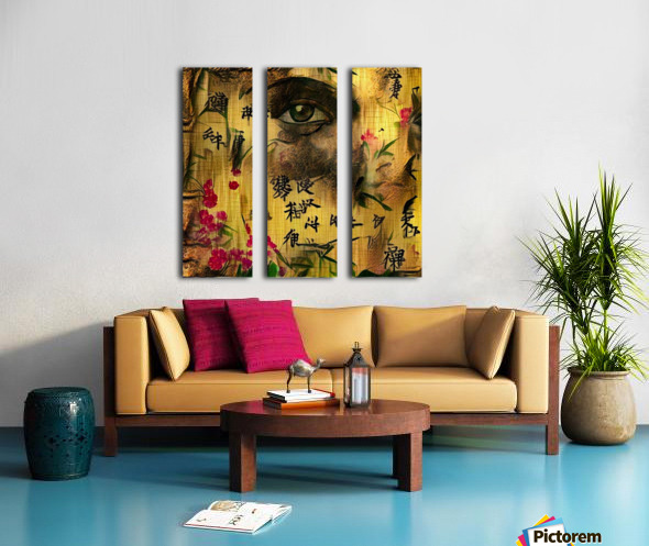 Asia Woman Split Canvas print
