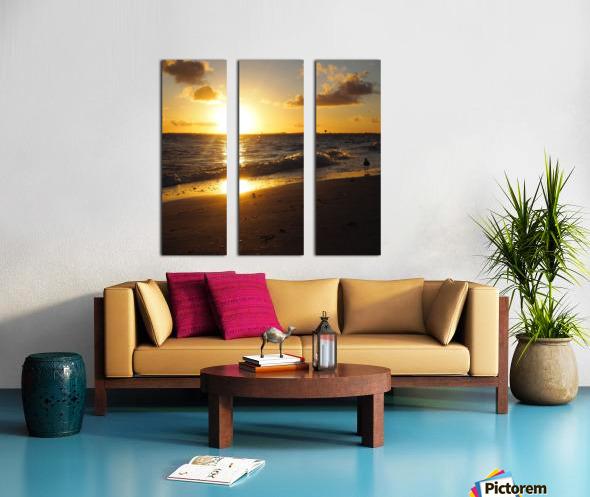 The Golden Hour Split Canvas print