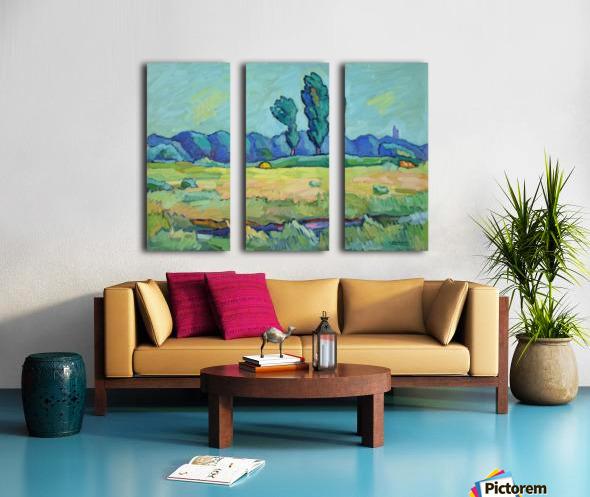 Two Poplars Split Canvas print