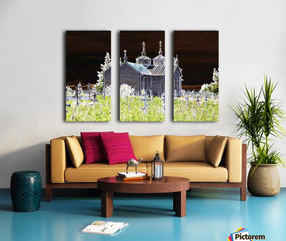 Church in Alaska Split Canvas print