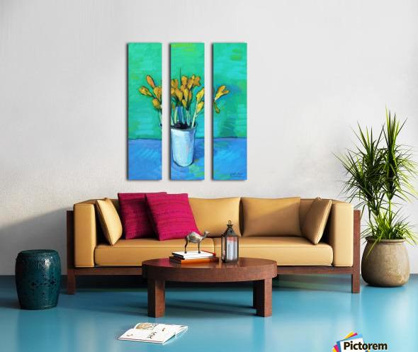 Crocuses Split Canvas print