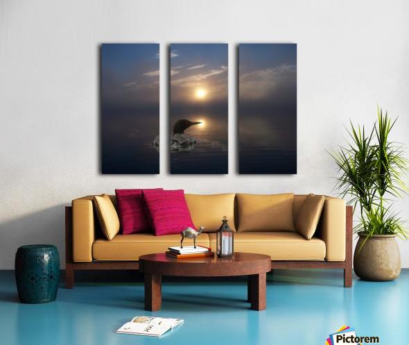 LoonAtSunrise_1527463927.19 Split Canvas print