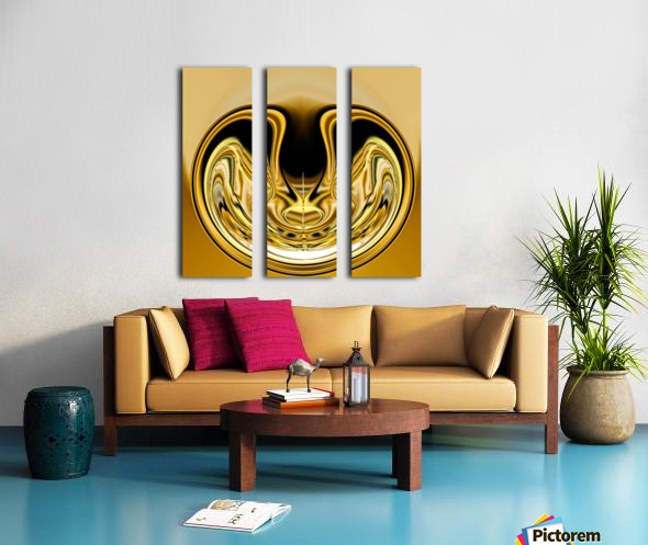 GoldTone1 Split Canvas print