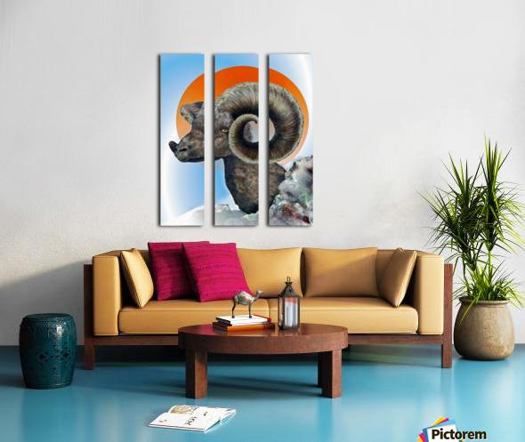 Ram Split Canvas print