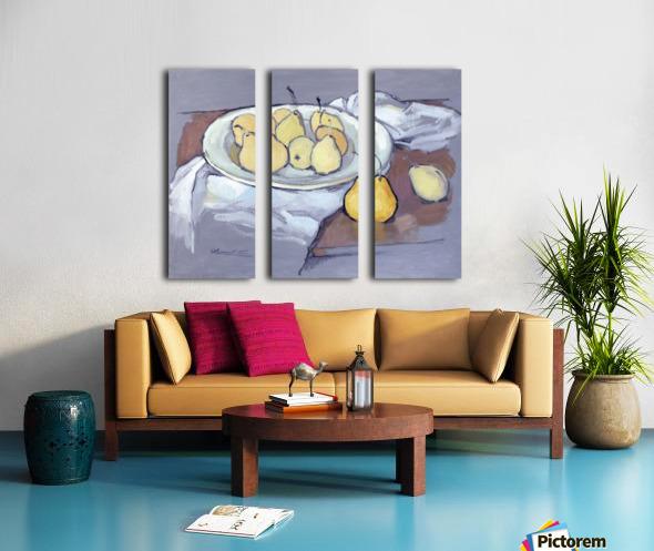 Pears-2 Split Canvas print