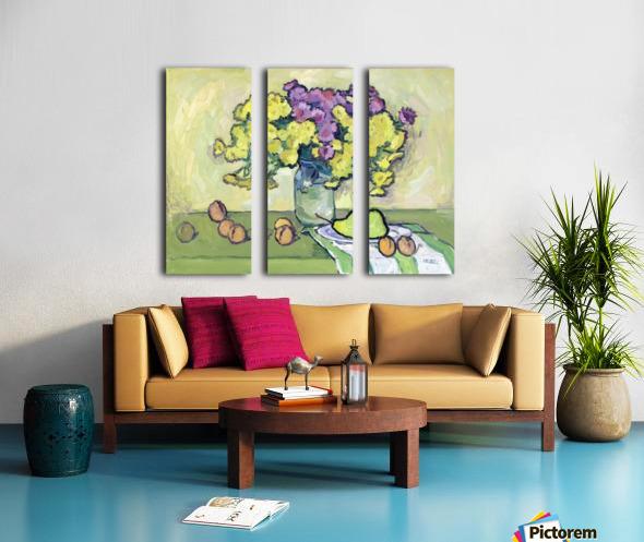 Chryzantemums Split Canvas print