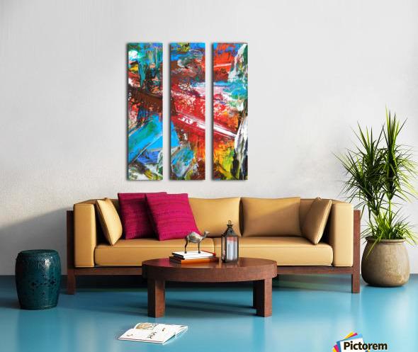 COLOR Split Canvas print