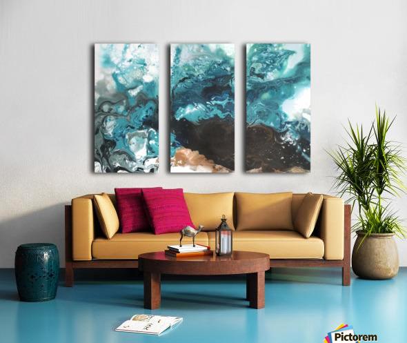 Ocean Glass Split Canvas print