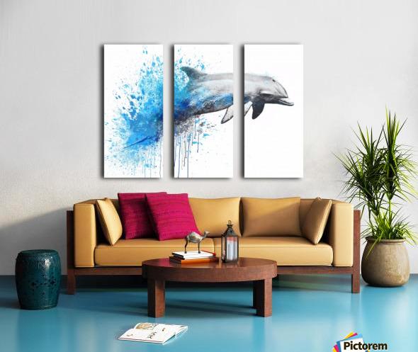 dauphin Split Canvas print