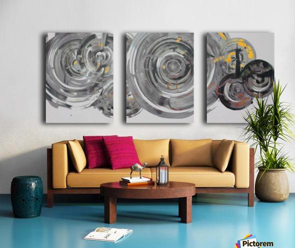 Helical Split Canvas print