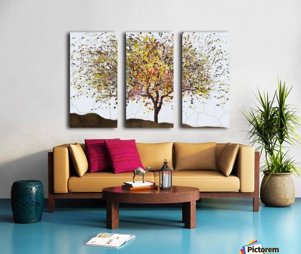 Spring Split Canvas print