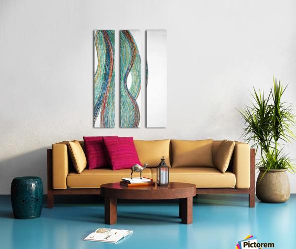 Lignes Split Canvas print