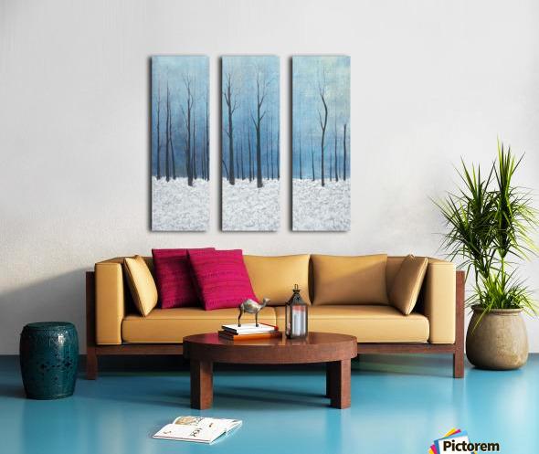 winter scenery Split Canvas print