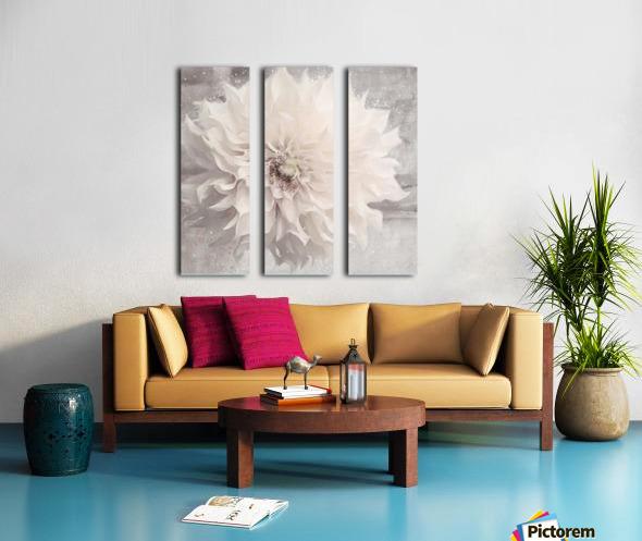 Blanc magique Split Canvas print