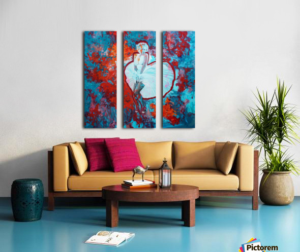 Marilyn Split Canvas print