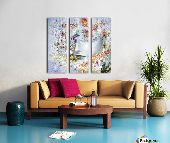 LadyinYellow Split Canvas print