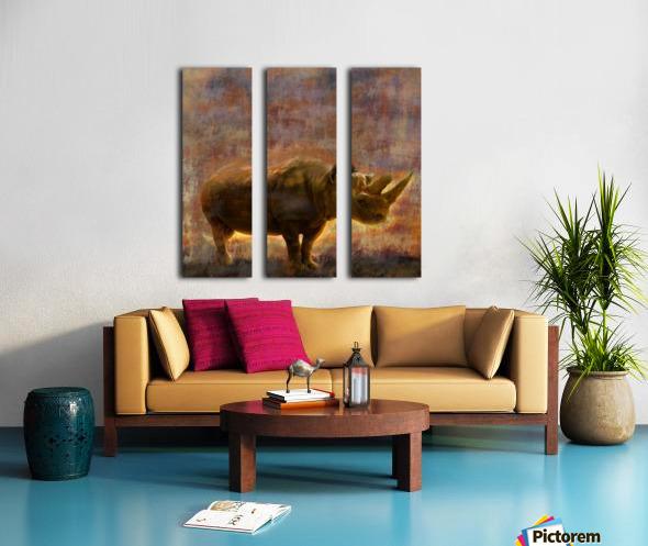 rhino Split Canvas print