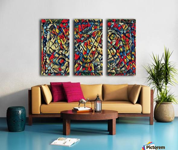 trison Split Canvas print