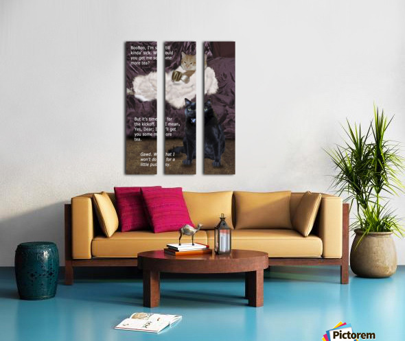LittlePussy Split Canvas print